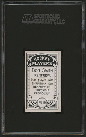 1911-1912 C55 Imperial Tobacco Hockey #19 Don Smith - Back