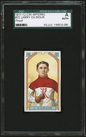 1911-1912 C55 Imperial Tobacco Hockey #22 Larry Gilmour - Front