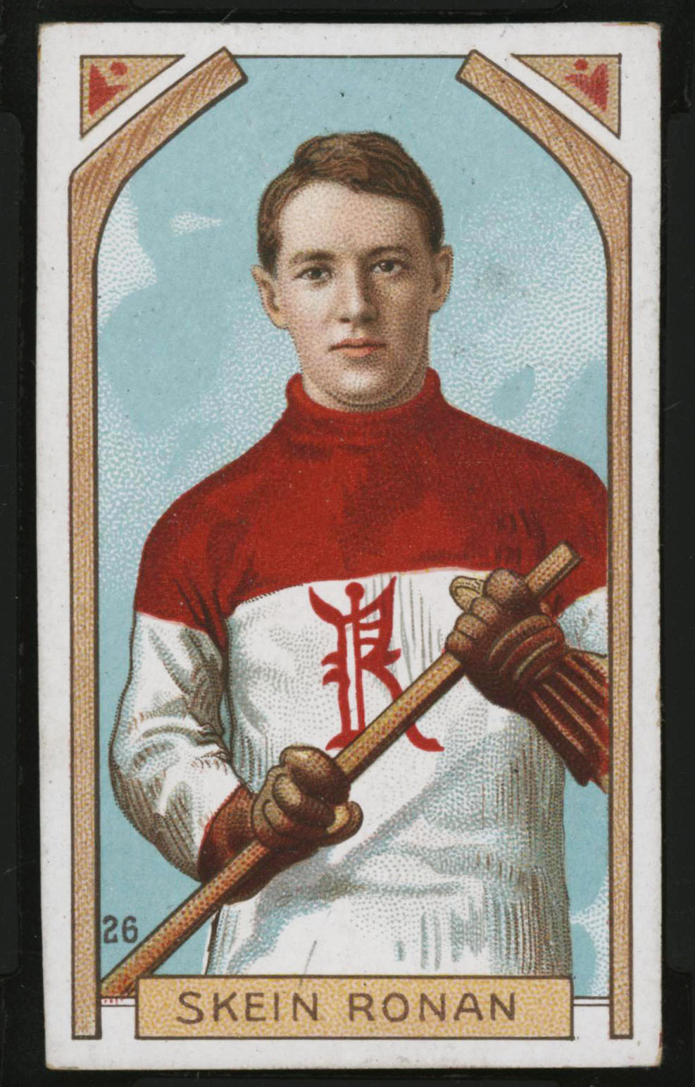 1911-1912 C55 Imperial Tobacco Hockey #26 Skein Ronan - Proof Front