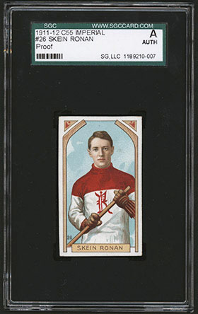 1911-1912 C55 Imperial Tobacco Hockey #26 Skein Ronan - Front