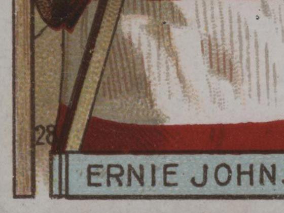 1911-1912 C55 Imperial Tobacco Hockey #28 Ernie Johnson - Issued Detail 2