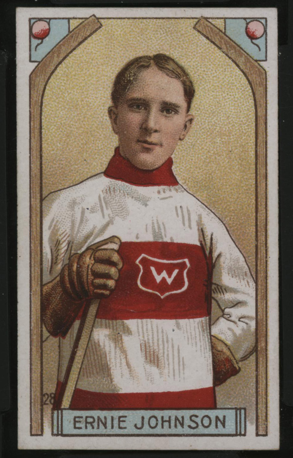 1911-1912 C55 Imperial Tobacco Hockey #28 Ernie Johnson - Issued Front