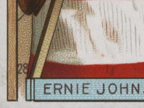 1911-1912 C55 Imperial Tobacco Hockey #28 Ernie Johnson - Proof Detail 2