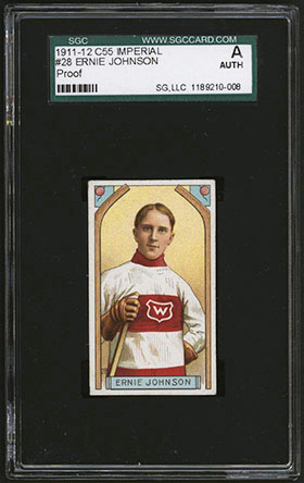 1911-1912 C55 Imperial Tobacco Hockey #28 Ernie Johnson - Front