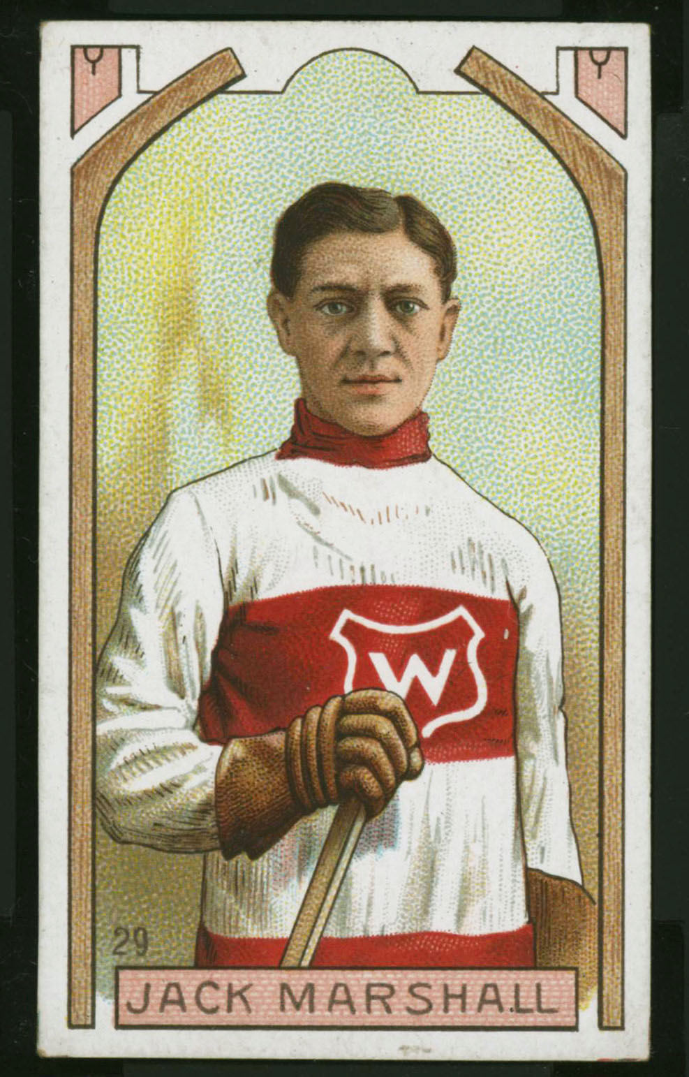 1911-1912 C55 Imperial Tobacco Hockey #29 Jack Marshall - Proof Front