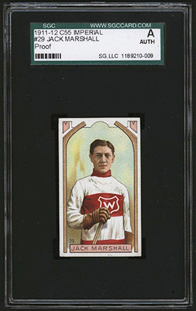 1911-1912 C55 Imperial Tobacco Hockey #29 Jack Marshall - Front