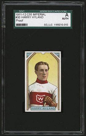 1911-1912 C55 Imperial Tobacco Hockey #30 Harry Hyland - Front