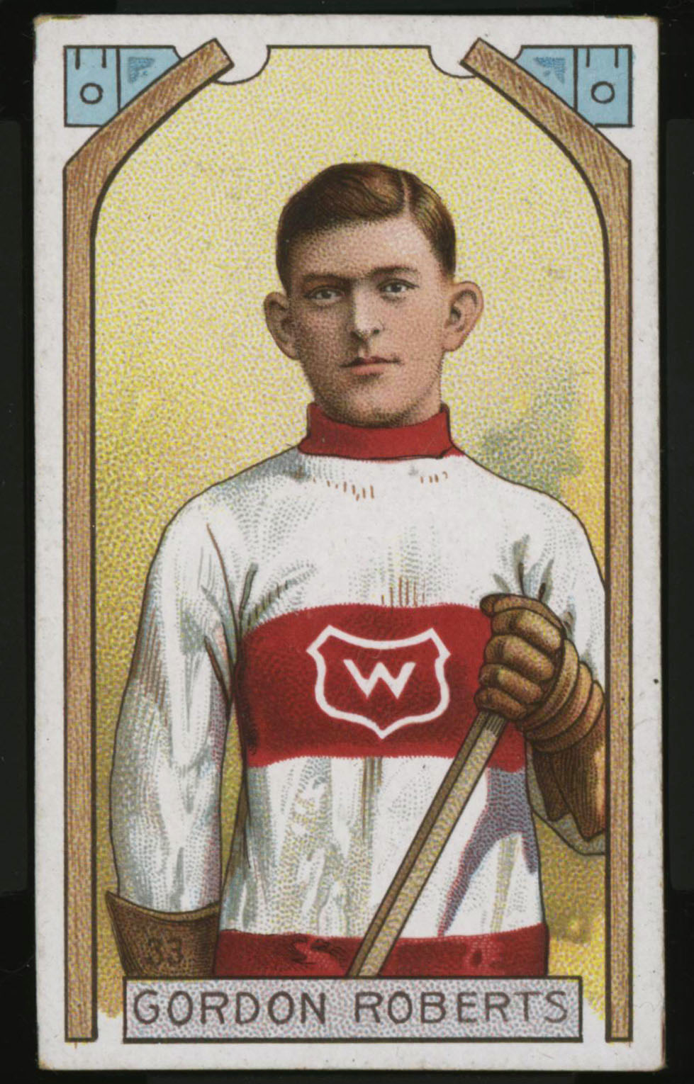 1911-1912 C55 Imperial Tobacco Hockey #33 Gordon Roberts - Proof Front
