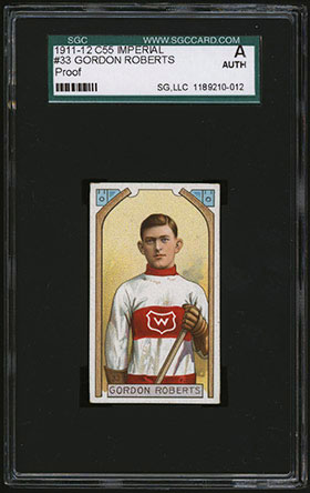 1911-1912 C55 Imperial Tobacco Hockey #33 Gordon Roberts - Front
