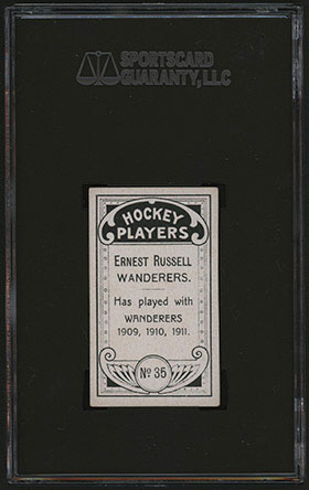 1911-1912 C55 Imperial Tobacco Hockey #35 Ernest Russell - Back