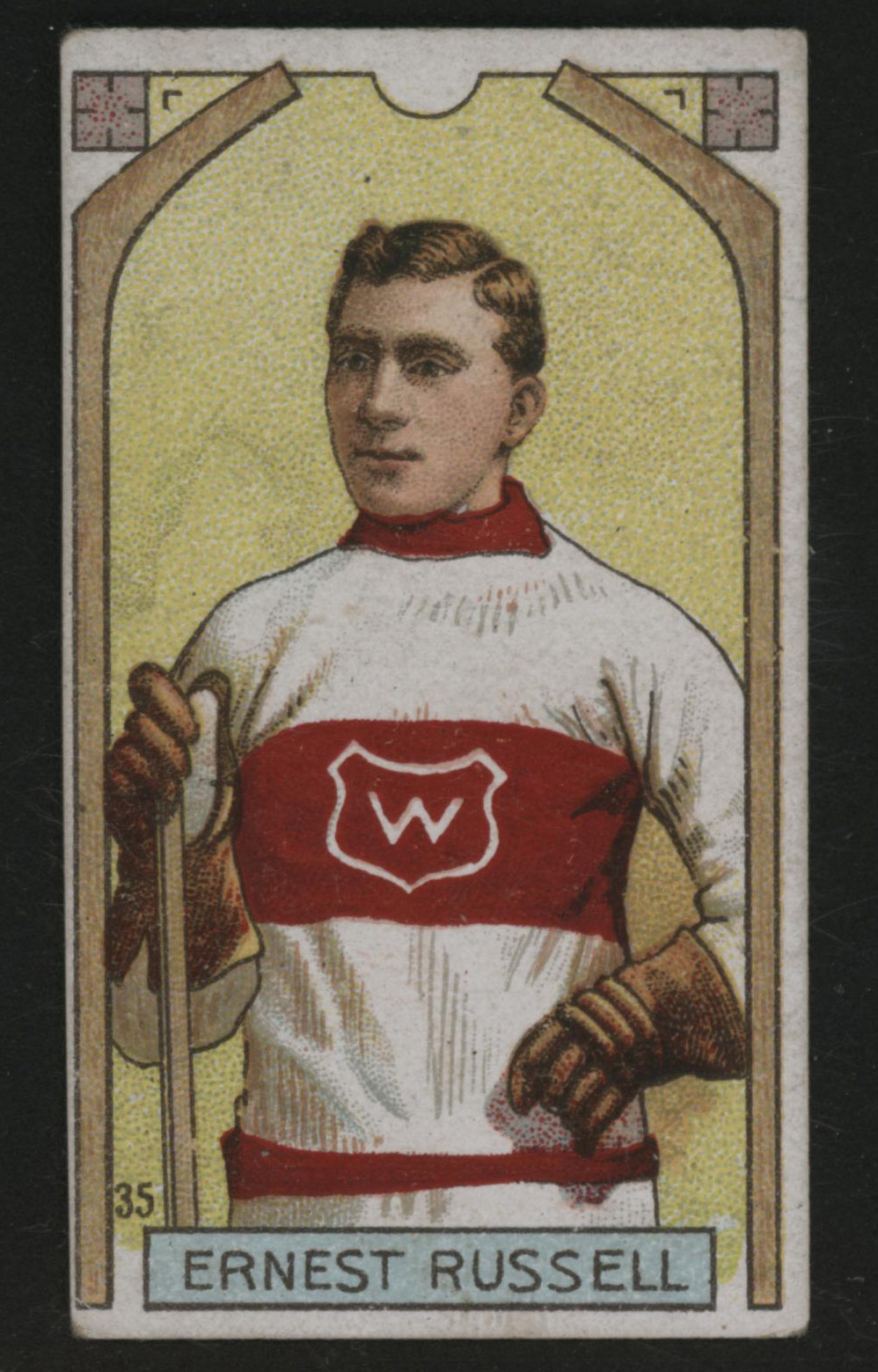 1911-1912 C55 Imperial Tobacco Hockey #35 Ernest Russell - Issued Front