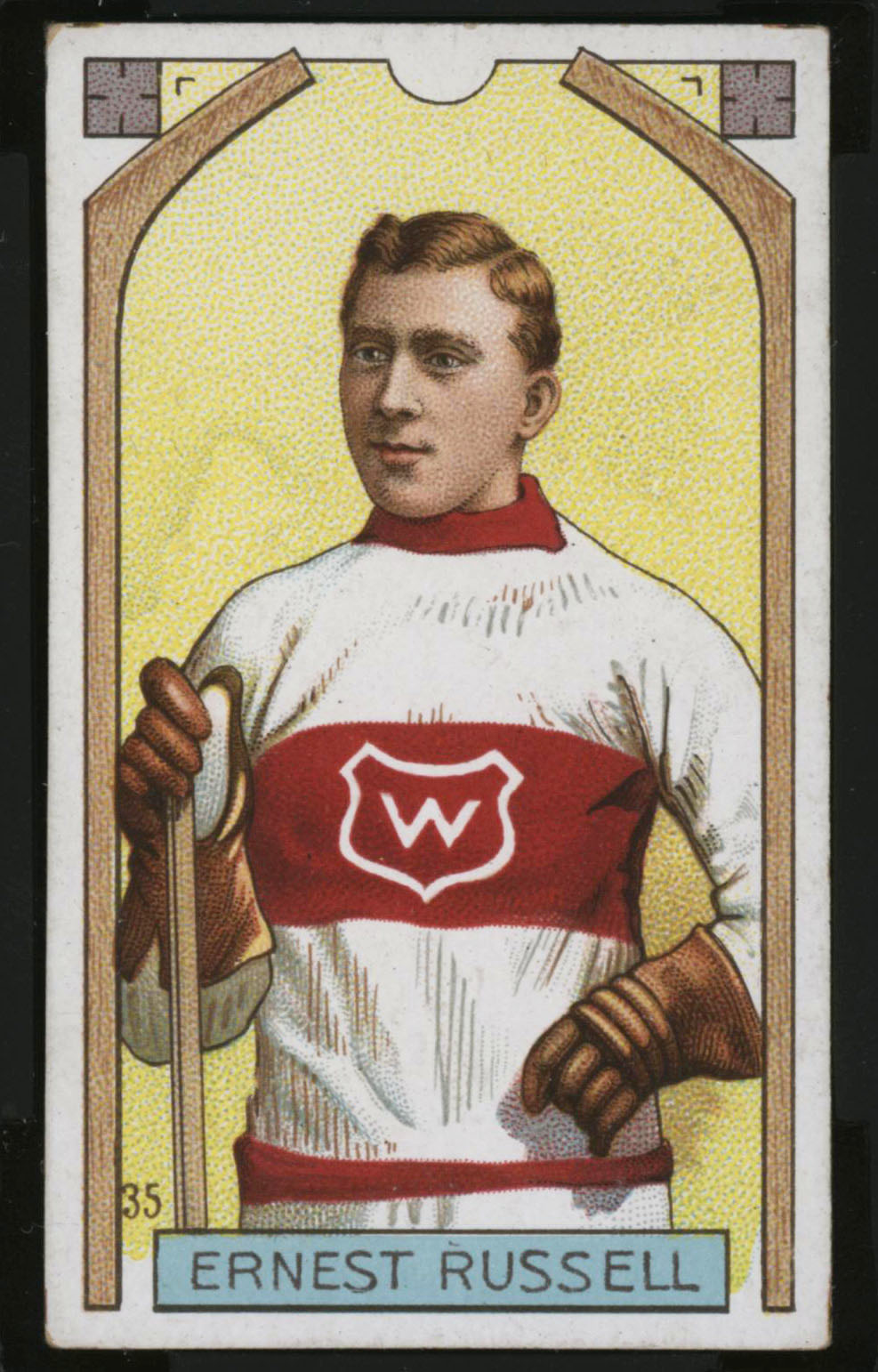 1911-1912 C55 Imperial Tobacco Hockey #35 Ernest Russell - Proof Front