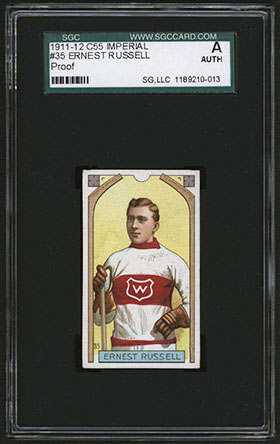 1911-1912 C55 Imperial Tobacco Hockey #35 Ernest Russell - Front