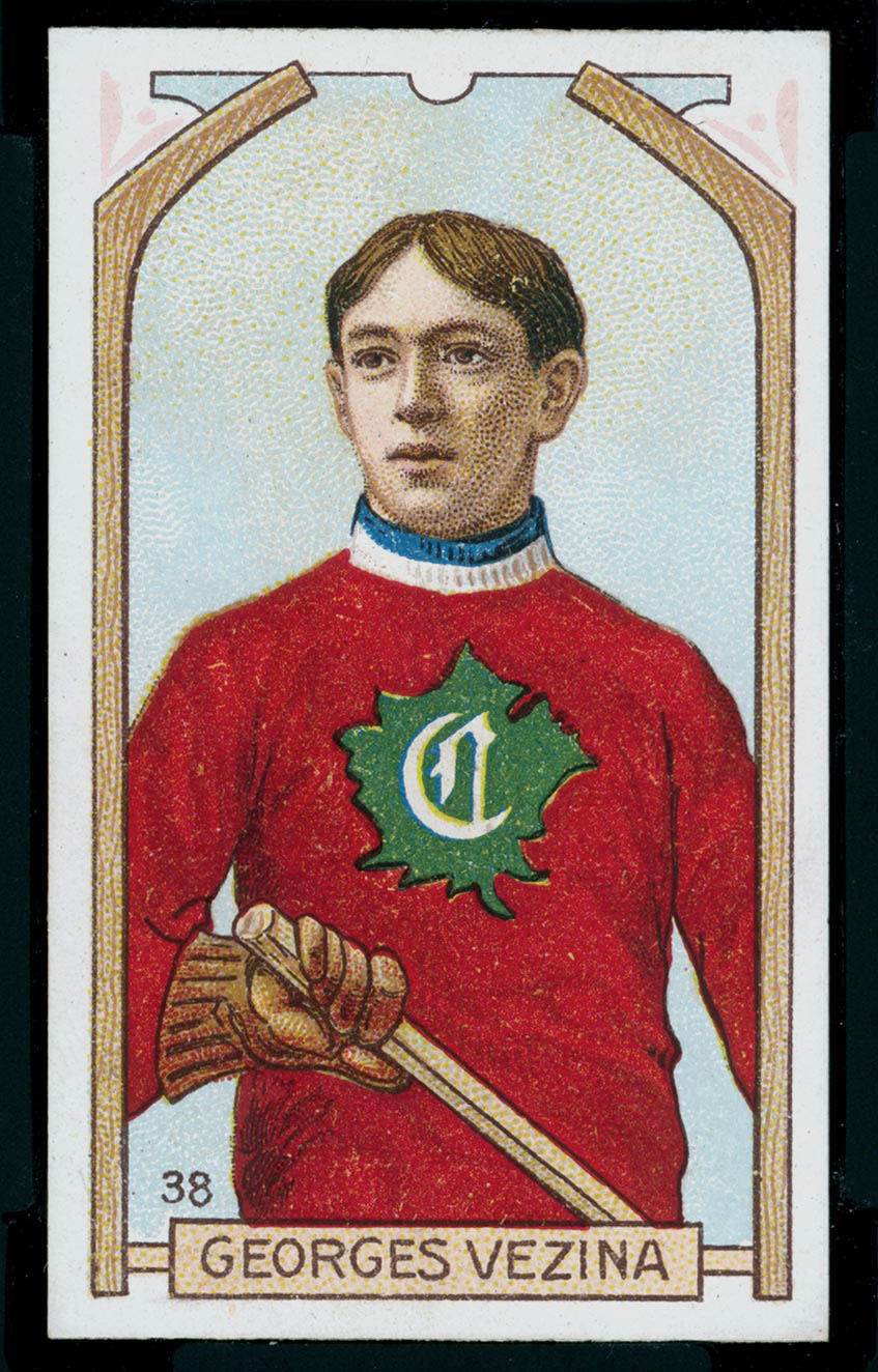 1911-1912 C55 Imperial Tobacco Hockey #38 Georges Vezina - Issued Front