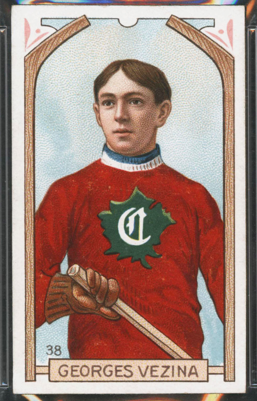 1911-1912 C55 Imperial Tobacco Hockey #38 Georges Vezina - Proof Front