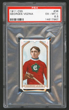 1911-1912 C55 Imperial Tobacco Hockey #38 Georges Vezina - Front