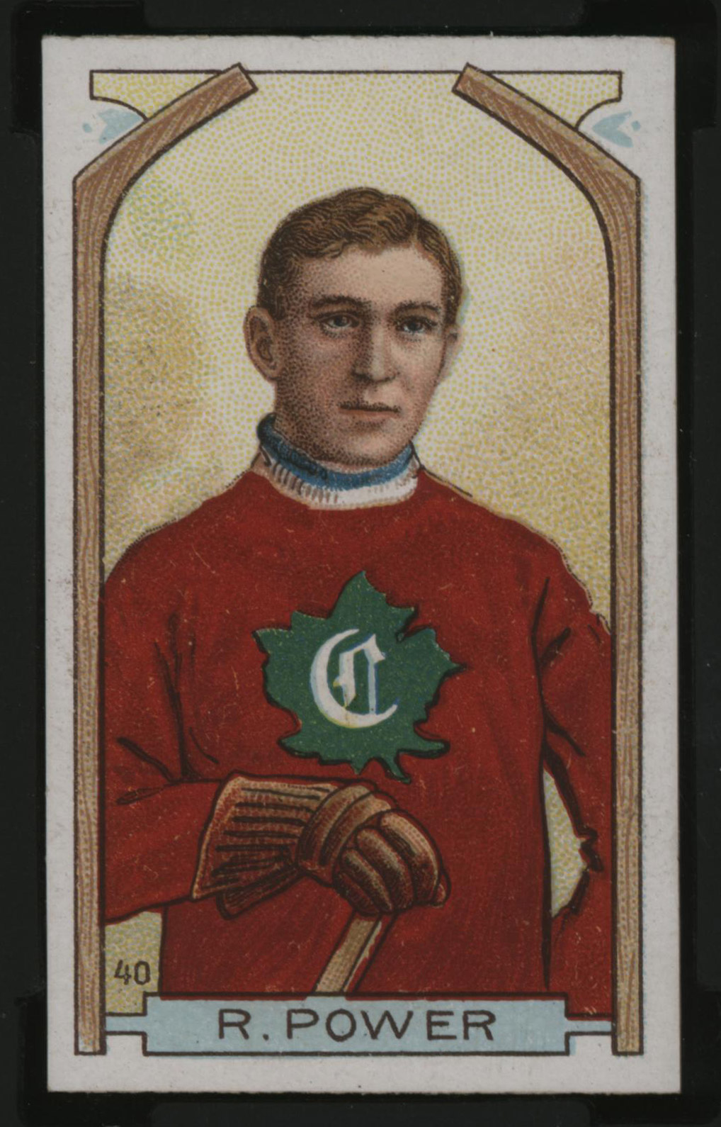 1911-1912 C55 Imperial Tobacco Hockey #40 Rocket Power - Issued Front