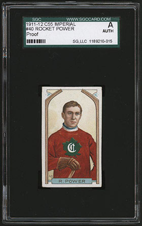 1911-1912 C55 Imperial Tobacco Hockey #40 Rocket Power - Front