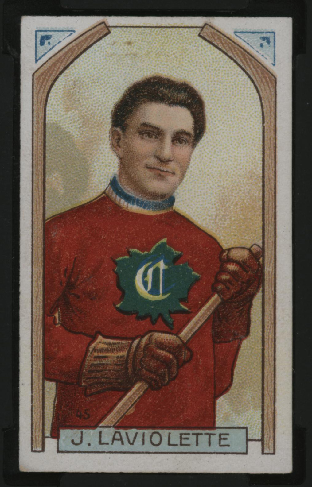 1911-1912 C55 Imperial Tobacco Hockey #45 Jack Laviolette - Issued Front