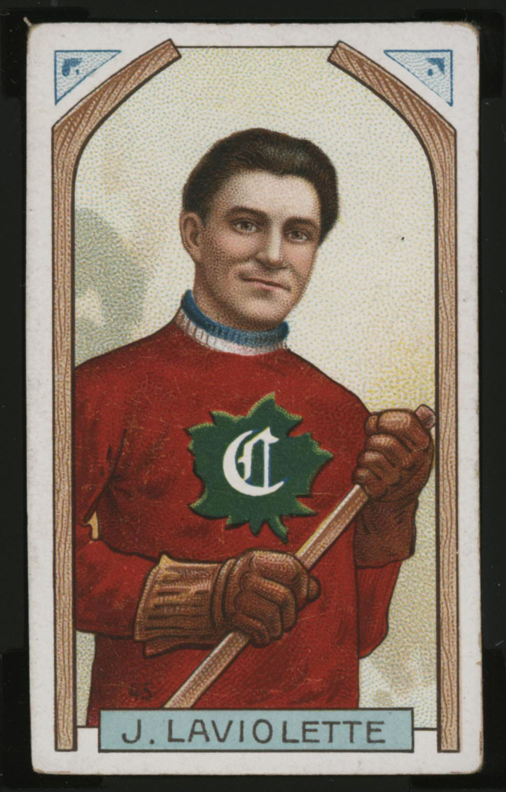 1911-1912 C55 Imperial Tobacco Hockey #45 Jack Laviolette - Proof Front