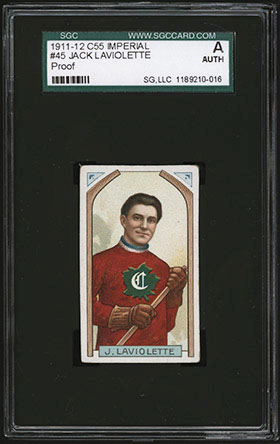 1911-1912 C55 Imperial Tobacco Hockey #45 Jack Laviolette - Front