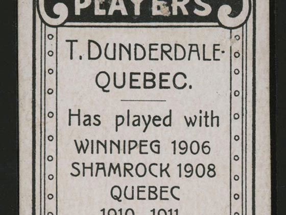 1911-1912 C55 Imperial Tobacco Hockey #6 Tom Dunderdale - Proof Detail 2