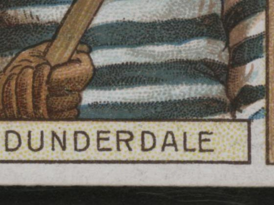 1911-1912 C55 Imperial Tobacco Hockey #6 Tom Dunderdale - Issued Detail 1