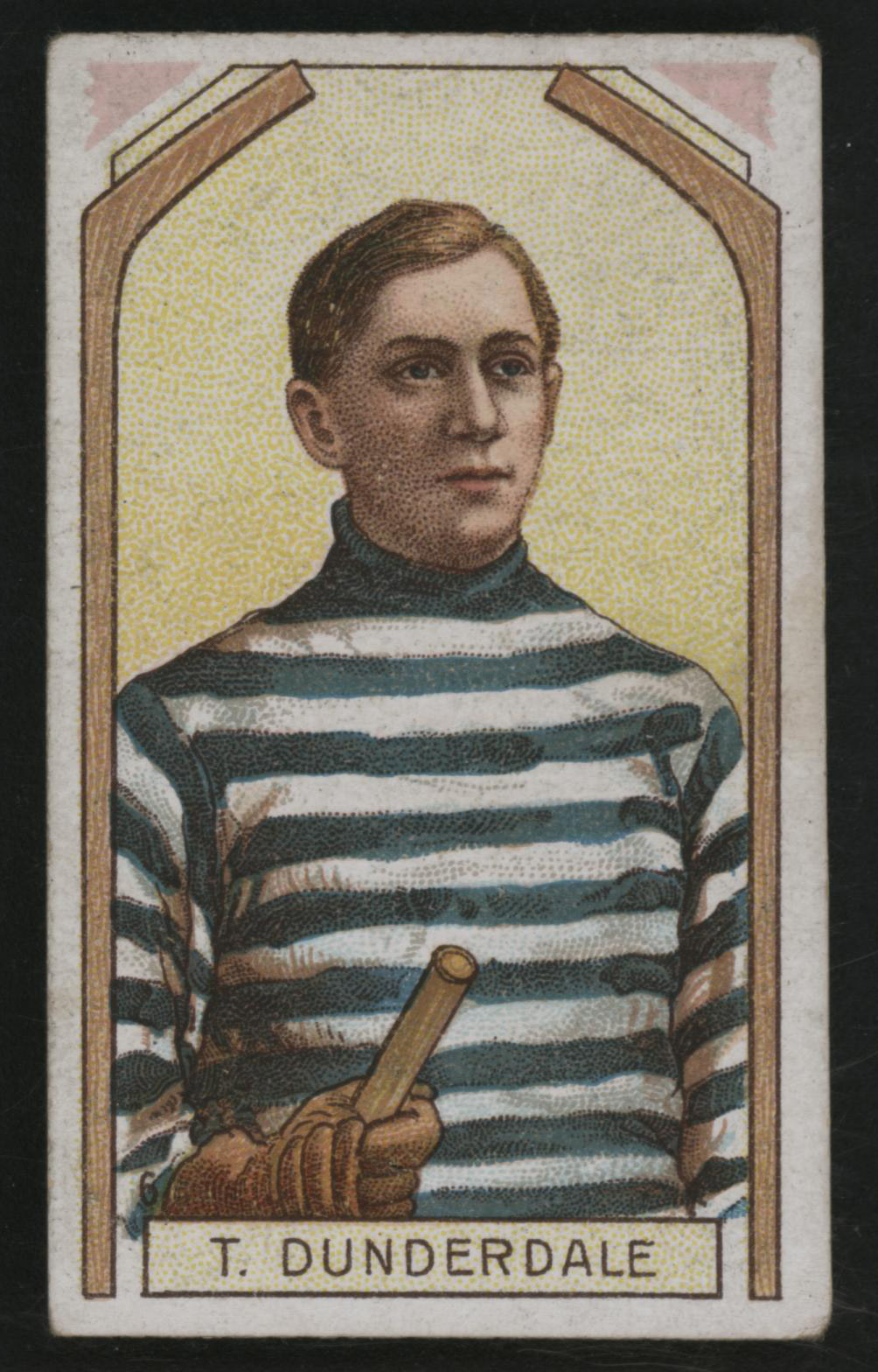 1911-1912 C55 Imperial Tobacco Hockey #6 Tom Dunderdale - Issued Front