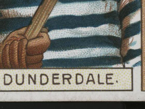 1911-1912 C55 Imperial Tobacco Hockey #6 Tom Dunderdale - Proof Detail 1
