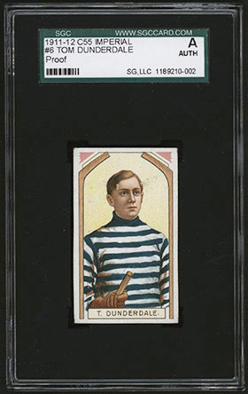 1911-1912 C55 Imperial Tobacco Hockey #6 Tom Dunderdale - Front