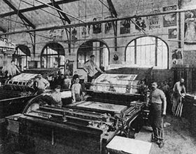 Old Fashioned Printing Shop